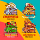 Fast Food Truck Van Restaurant Delivery Vector Icon Logo Pack - GraphicRiver Item for Sale