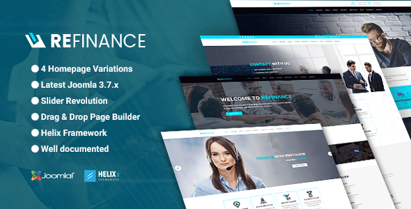 Refinance – Finance / Tax / Corporate Joomla Template