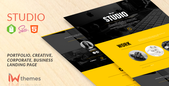 Studio - Portfolio, Creative, Corporate, Business Landing Page - Portfolio Creative