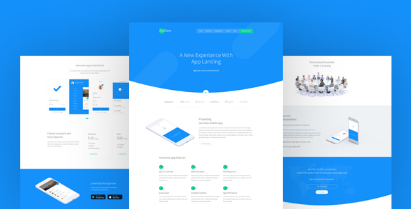 AppCase – App Landing Page