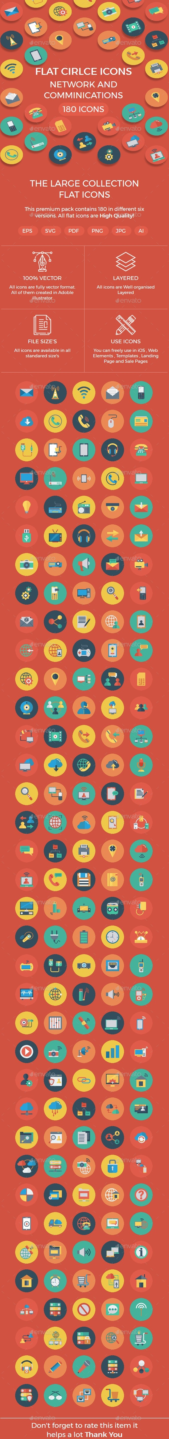 Network and Comminications Flat icon - Icons