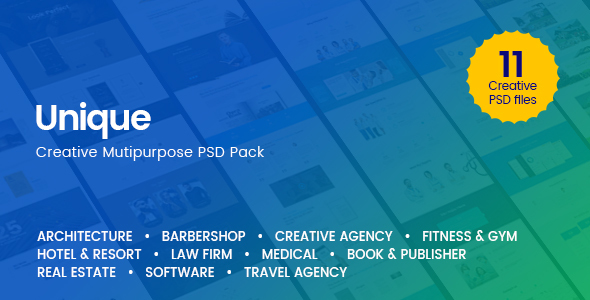 Unique - Creative Multi-Purpose PSD Template - Creative PSD Templates