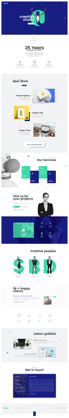 03 unique creative agency landing page.  thumbnail