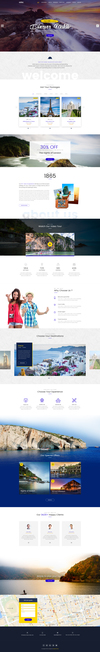 11 unique travel agency landing page.  thumbnail