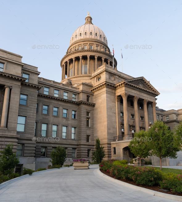Boise Idaho Capital City Downtown Capitol Building  - Stock Photo - Images