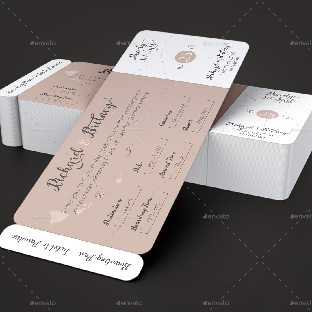 Pinky wedding boarding pass invitation template by godserv preview image setpink wedding boarding pass invitationtemplate image preview 2g stopboris Image collections