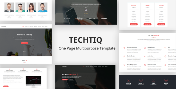 Techtiq – Responsive One Page Multipurpose Template