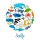 Sea Ocean Cartoon Animals - GraphicRiver Item for Sale