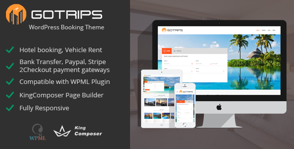 Gotrips - WordPress Booking Theme