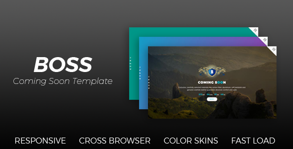 BOSS - Coming Soon Template - Under Construction Specialty Pages