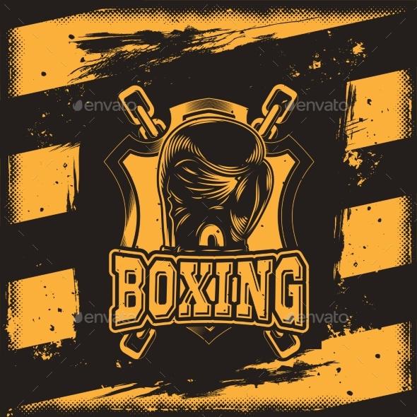 Conceptual Motivational Poster for a Boxing - Sports/Activity Conceptual
