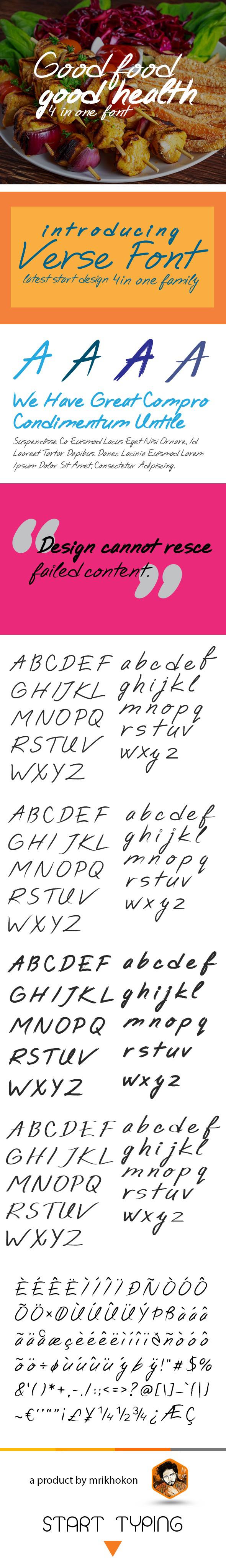 Verse Font - Handwriting Fonts