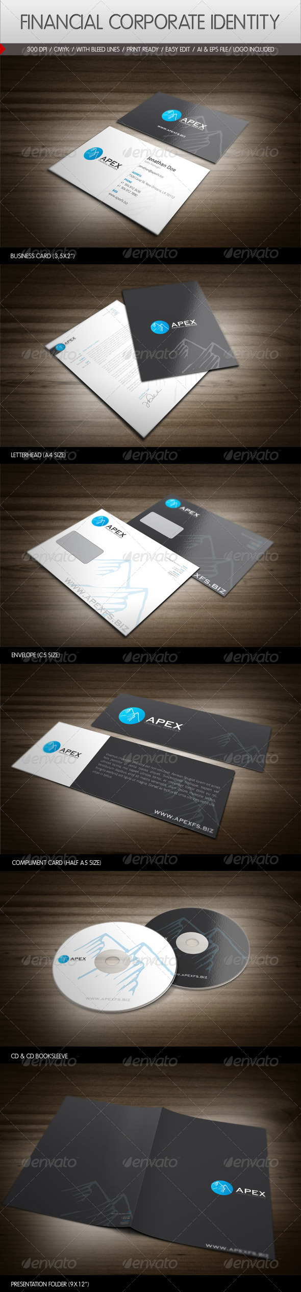 Financial Services Corporate Identity - Stationery Print Templates