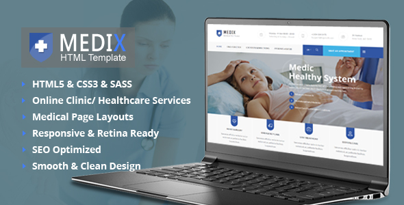 Medix Medical HTML5 Template - Corporate Site Templates