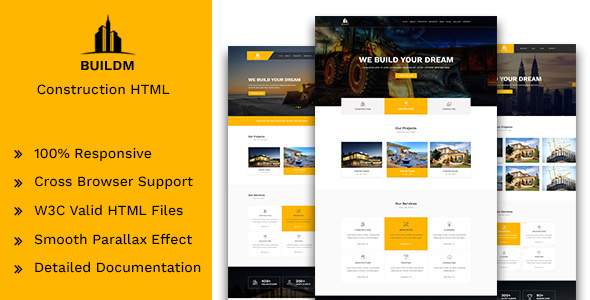 Buildm - Construction HTML Template