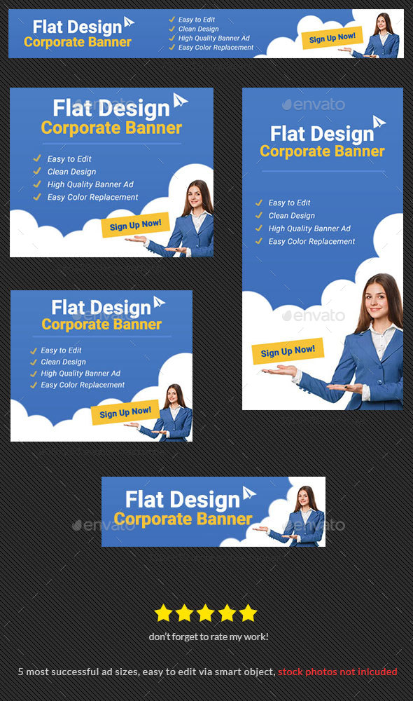 Corporate Banner Design Template 74 - Lite - Banners & Ads Web Elements