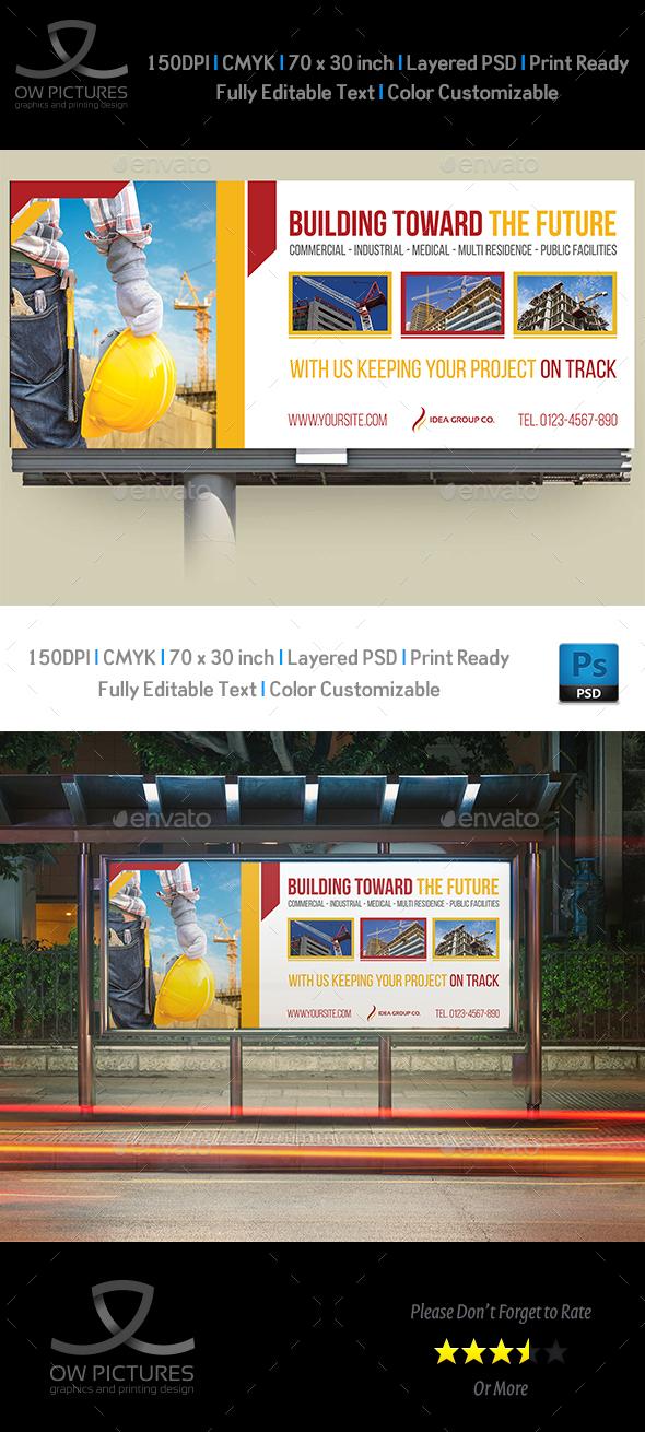 Construction Business Billboard Template Vol.5 - Signage Print Templates