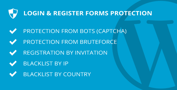 Login & Register forms protection - WordPress plugin - CodeCanyon Item for Sale