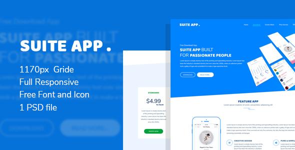 Suite App -  App Landing Page