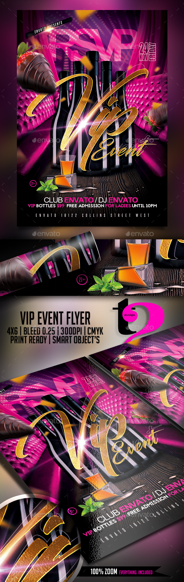 Vip Event Flyer Template - Clubs & Parties Events