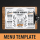 Beer Menu Template - GraphicRiver Item for Sale
