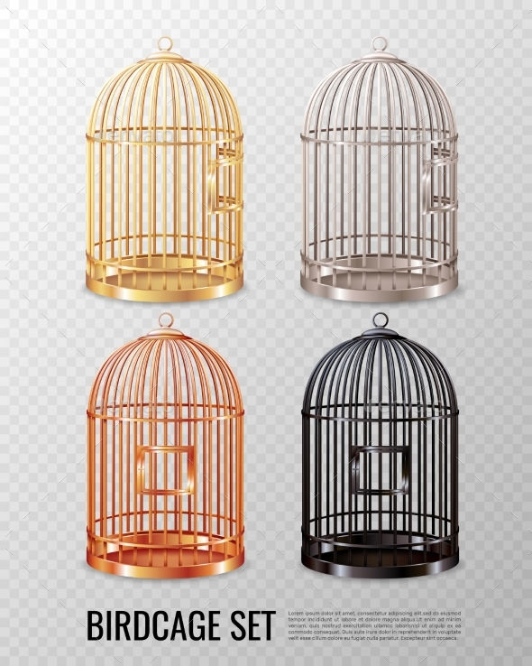 Canary Birdcage 3D Set - Animals Characters