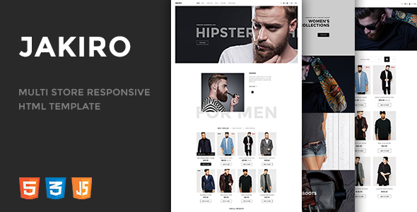 Jakiro - Multi Store Responsive HTML Template - Retail Site Templates