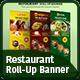 Restaurant Roll Up Banner - Signage - GraphicRiver Item for Sale
