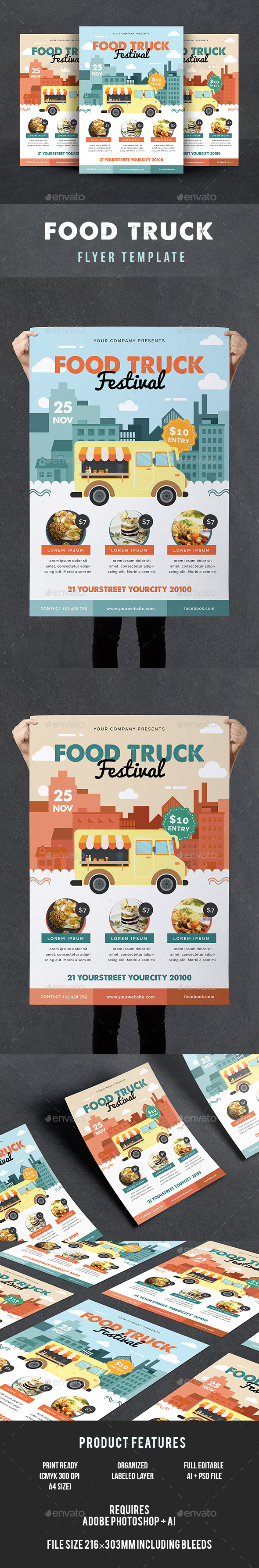 Food Truck Flyer - Events Flyers