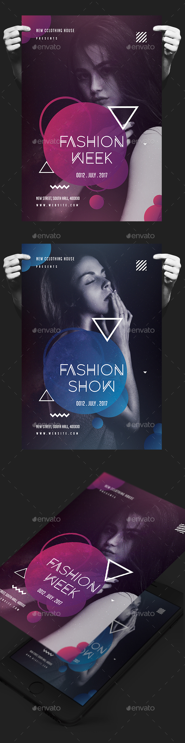 Creative Fashion Show Flyer - Events Flyers