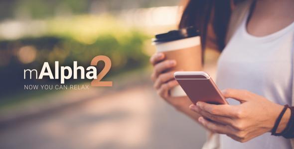 mAlpha2 | Mobile Responsive Template - Mobile Site Templates