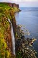 Kilt rock coastline cliff in Scottish highlands, Scotland