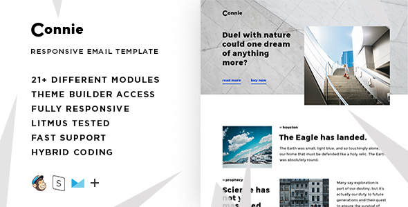 Image of Connie – Responsive Email + StampReady Builder