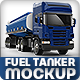 Semi-trailer tank truck Mock-up - GraphicRiver Item for Sale