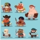 Cartoon Aborigine, Shaman Pirate Game Sprite - GraphicRiver Item for Sale