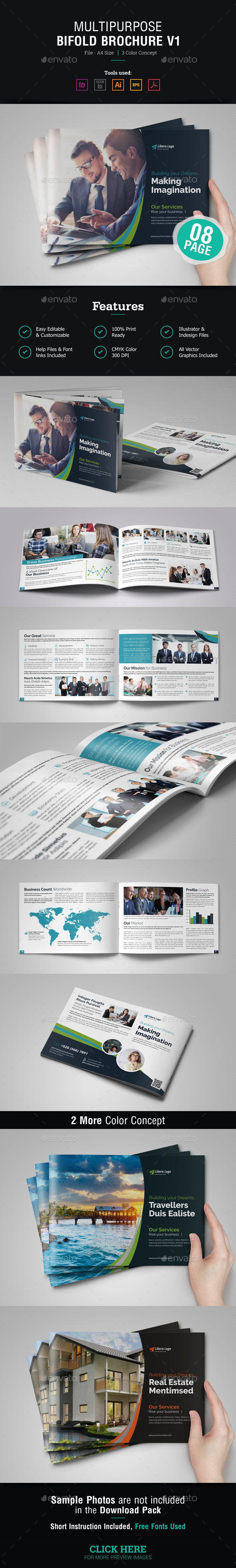 Multipurpose Bifold Brochure v1 - Corporate Brochures