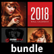 3 in 1 Wall Calendar 2018 Bundle V10 - GraphicRiver Item for Sale