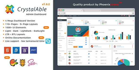 Crystal Able - Bootstrap 4 Admin Template