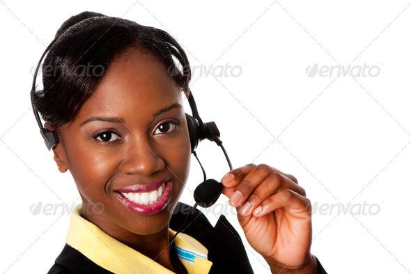Happy Service Operator - Stock Photo - Images