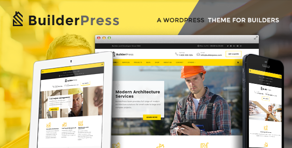 BuilderPress - Construction and Architecture WordPress Theme