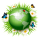 Green Globe and Grass with Flowers - GraphicRiver Item for Sale