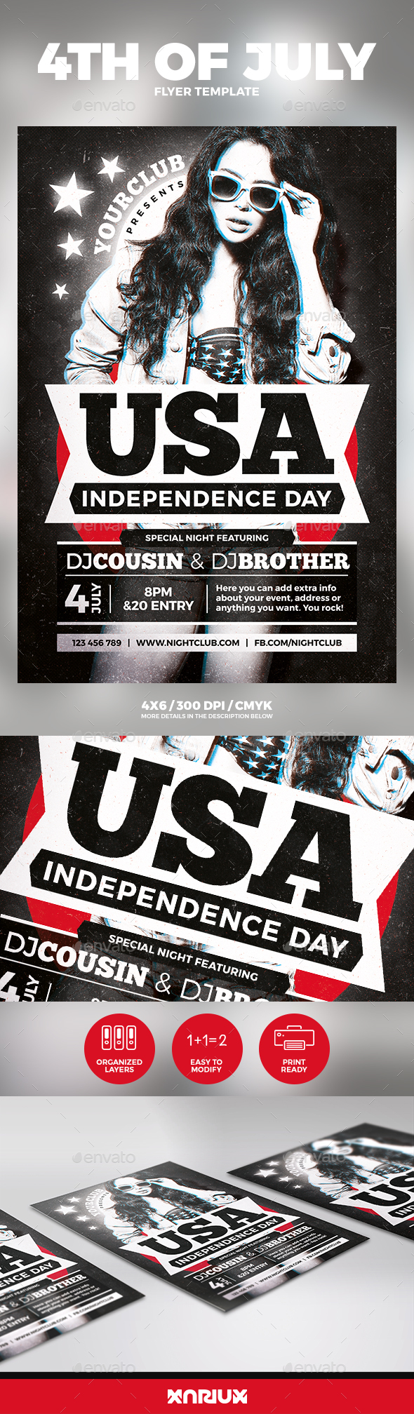 4th of July Independence Day Flyer - Events Flyers
