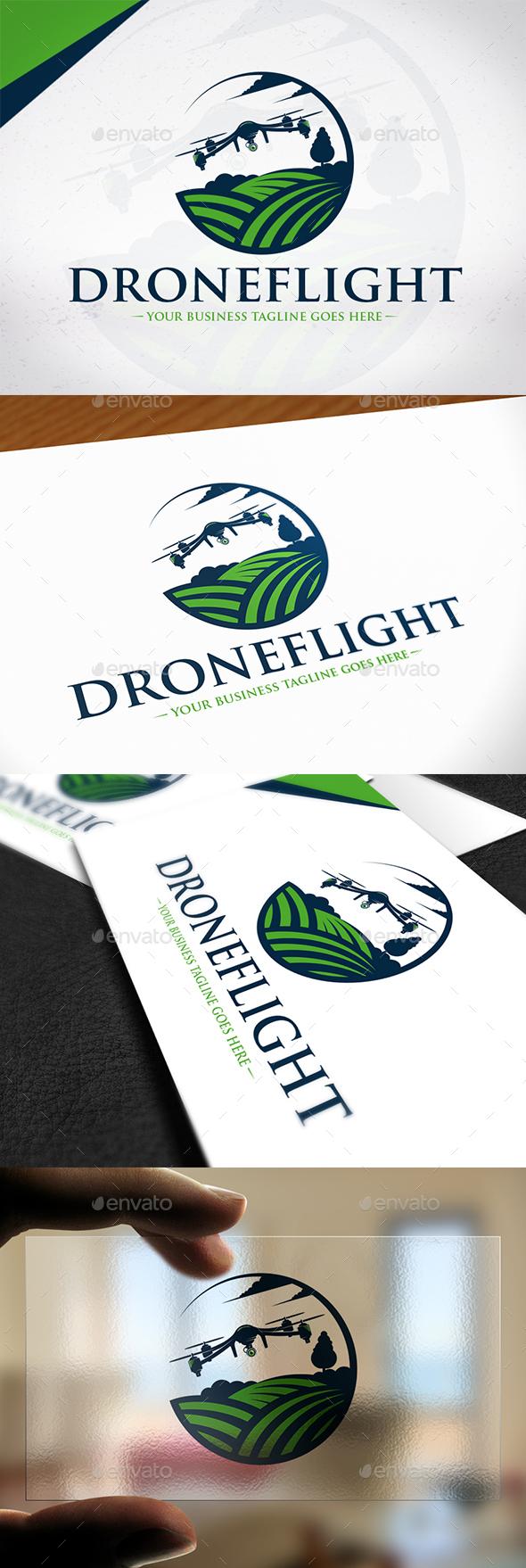 Drone Flight Logo Template - Objects Logo Templates