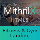 MithrilX Fitness & Gym HTML5 Landing Page