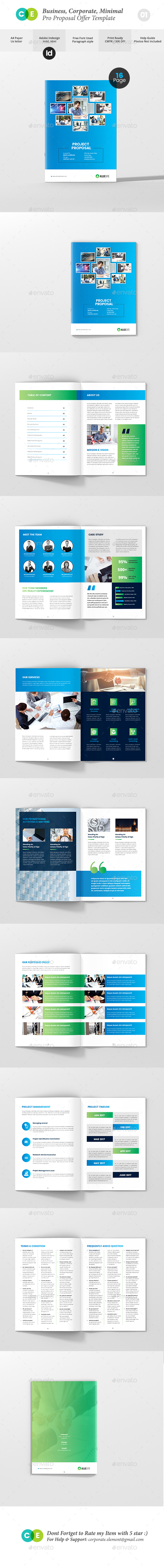 Clean Corporate Minimal Proposal Template V01 - Proposals & Invoices Stationery