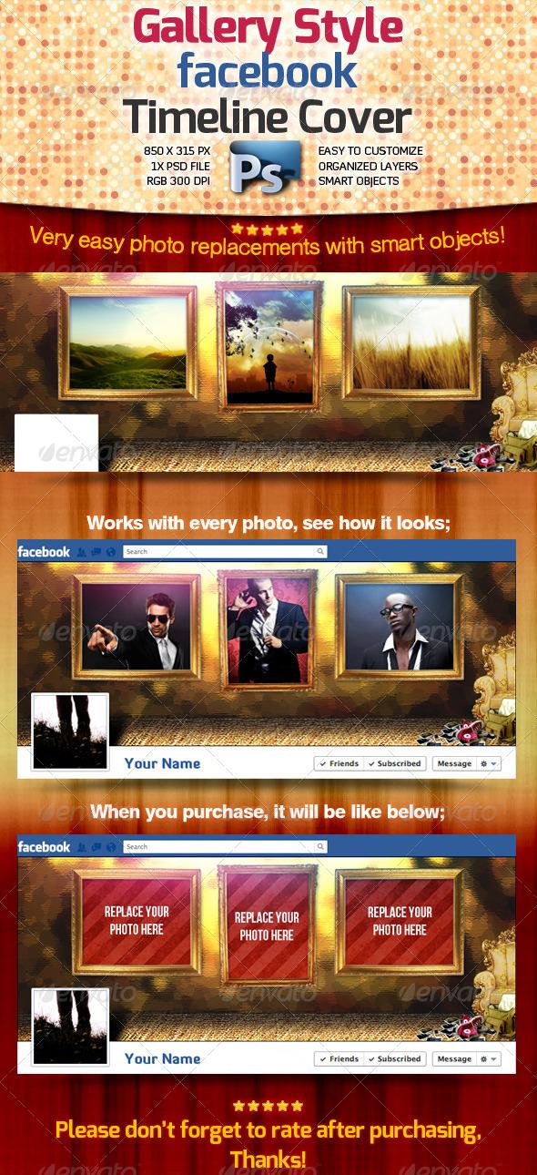 Gallery Style Facebook Timeline Cover - Facebook Timeline Covers Social Media