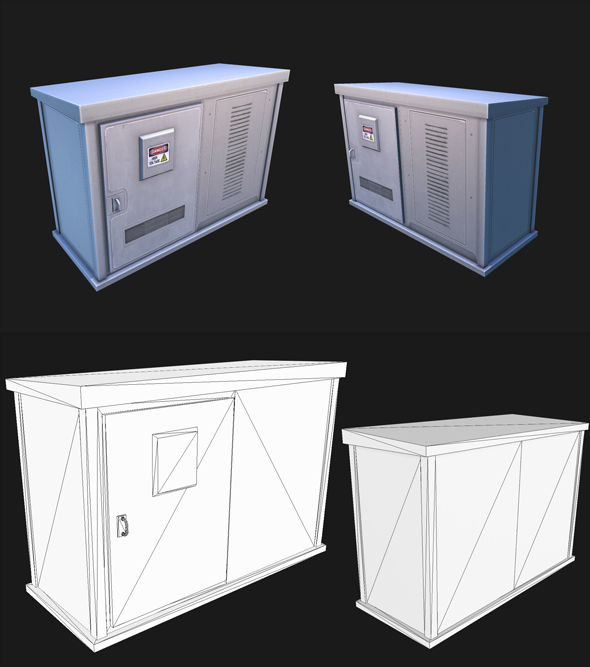 Utility Box 2 - 3DOcean Item for Sale