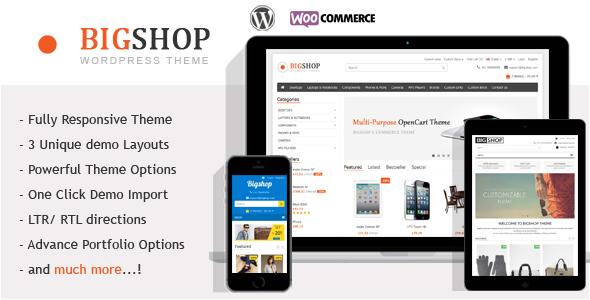 Image of The Bigshop - WooCommerce WordPress Theme!