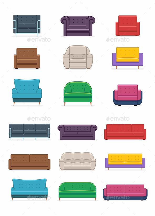 Sofas and Armchairs - Man-made Objects Objects