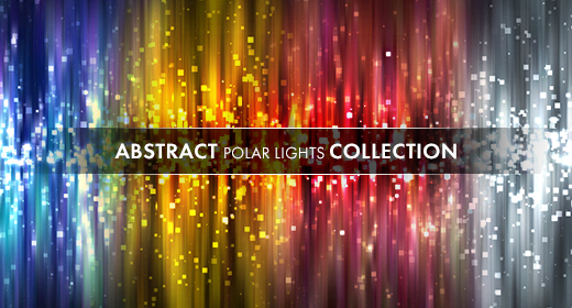 Abstract particles polar lights collection